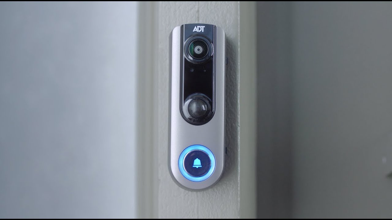 Why is my ADT video doorbell blinking red?